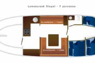 LEMSTERAAK RIEPEL - 7 persons